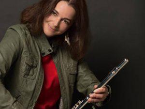 """Eröffnungsfest """"wie Wolken um die Zeiten legt""""<br>Flötenmusik von Katrin Keller"""